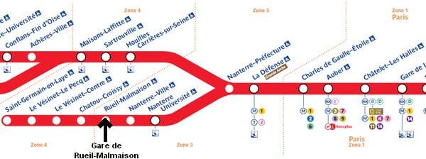 Localisation de la gare de Rueil-Malmaison