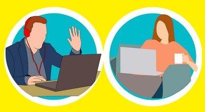 psychologue par Internet : visioconférence avec son ordinateur ou son téléphone